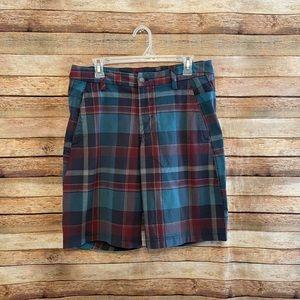 Lululemon Multicolor Plaid Casual Shorts 34